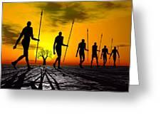 Zulu Warrior Trek Greeting Card
