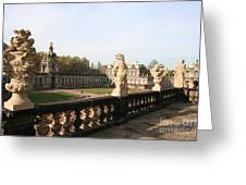 Zwinger Courtyard  Dresden  Greeting Card