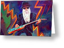 Zz Top 3 Greeting Card