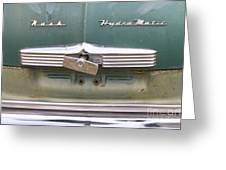 1951 Nash Ambassador Hydramatic Back Greeting Card