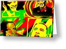 4 Rasta Obama Greeting Card by Tony B Conscious