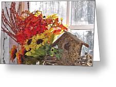 A Window Arrangement Greeting Card