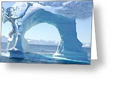 Angel And Iceberg Greeting Card