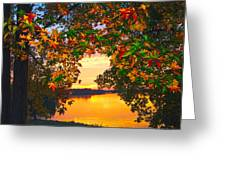Autumn Leaves A View Greeting Card