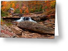 Autumn Leaves At The Mill Greeting Card