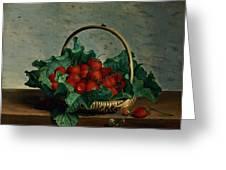 Basket Of Strawberries Greeting Card