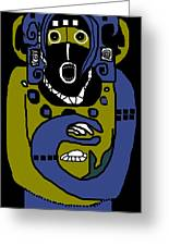 Blue Kachina Greeting Card