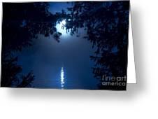 Blue Moon Greeting Card