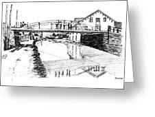 Canal Ellenville Greeting Card