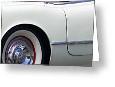 Classic White Corvette Greeting Card