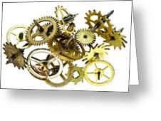 Clockwork Mechanism Greeting Card
