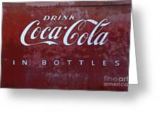 Coca Cola Memorbelia Greeting Card