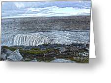 Detifoss Waterfall In Iceland - 01 Greeting Card