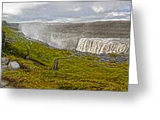 Detifoss Waterfall In Iceland - 02 Greeting Card