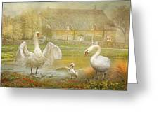 Early Preparations Greeting Card by Trudi Simmonds