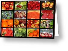 Fruits Collage Greeting Card