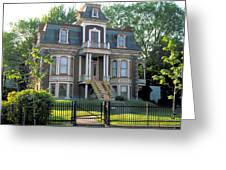 Gracious Victorian House In Montreal Greeting Card
