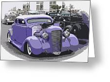 Hot Rod Purple Greeting Card by Steve McKinzie
