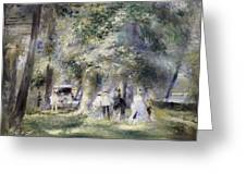 In The Park At Saint-cloud Greeting Card