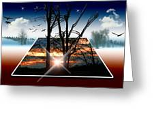 Into Another Dimension  Greeting Card
