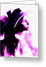 Lady With Hat Greeting Card