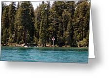 Lake Tahoe Sugar Pine Point Light Greeting Card
