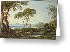 Landscape With Harlech Castle Greeting Card
