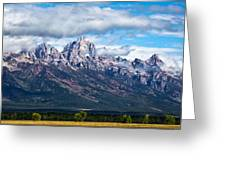 Light On The Grand Tetons Greeting Card