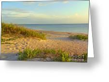 Longboat Key Beach View Greeting Card