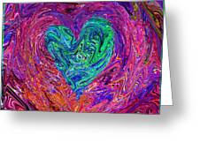 Love From The Ripple Of Thought  V 3  Greeting Card