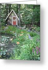 Magic Garden Pond Greeting Card