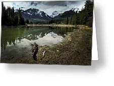 Muleshoe Pond Reflection Banff Greeting Card