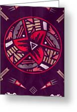 Native American Designs In The Round Greeting Card