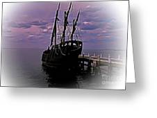 Notorious The Pirate Ship 5 Greeting Card
