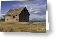 Old Big Sky Barn Greeting Card