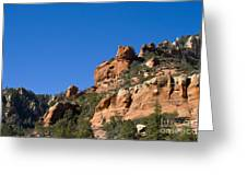 Red Rock And Pines Greeting Card