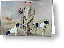 Richard Prince With Damon - The Late Colonel Mellish's Pointer Greeting Card