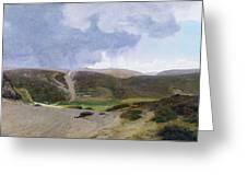 Scandinavian Landscape  Greeting Card