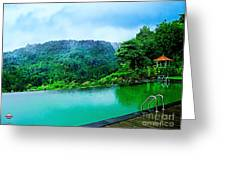 Scenery Of Mount Rinjani Greeting Card by Vidka Art