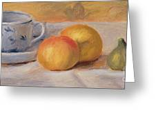Still Life With Blue Cup Nature Morte A La Tasse Bleue Greeting Card