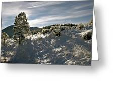 Sunrise On Frosted Hill Greeting Card