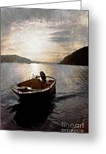 Sunset At Careel Bay Greeting Card