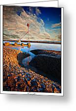 Sunset On The Marker Greeting Card
