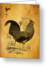 Thanksgiving Rooster Greeting Card
