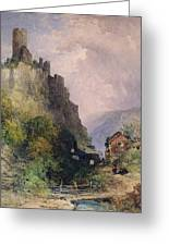 The Castle Of Katz On The Rhine Greeting Card