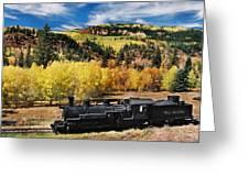 Train At Chama Greeting Card