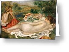 Two Bathers Greeting Card