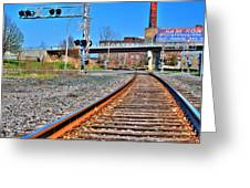 0001 Train Tracks Greeting Card