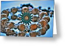 0001 Turquoise And Pearls Greeting Card