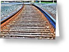 0002 Train Tracks Greeting Card